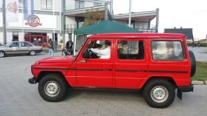 Teilnehmer bei der 6. Rhein-Hunsrück-Classic Oldtimer und Youngtimer Rallye Ausfahrt Mercedes Benz G Klasse lang