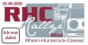 Rallye Schild Mini RHC